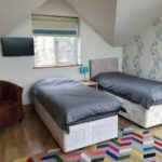 Family suite 2 single beds and room to add travel cot (we supply)
