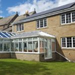 South facing garden accessed from the 30 foot dining conservatory